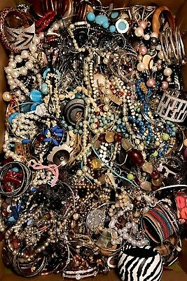 20 LBS Huge VTG -Now LOT Junk Drawer Jewelry UNSEARCHED Repurpose Craft Scrap #5
