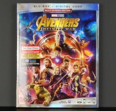 Avengers: Infinity War Blu-ray + Digital HD & Slipcover Brand New Free Shipping
