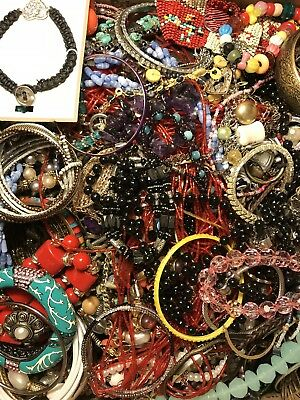 20 LBS Huge VTG -Now LOT Junk Drawer Jewelry UNSEARCHED Repurpose Craft Scrap #6