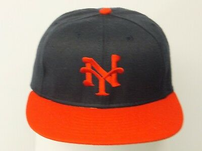 599feca2827 NEW! NEW YORK Black Yankees Fitted Flatbill 3D Embroidered Cap -NLB ...