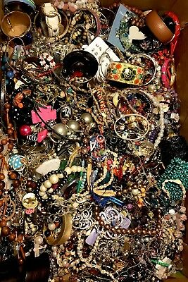 20 LBS Huge VTG -Now LOT Junk Drawer Jewelry UNSEARCHED Repurpose Craft Scrap #7