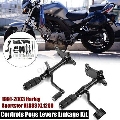 1991-2003 Forward Controls Pegs Levers Linkage Kit For Harley Sportster 1200 883
