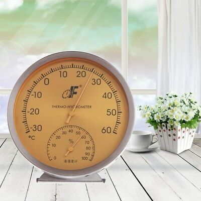 Stainless Steel Analog Dial Thermometer Hygrometer Temperature Humidity Meter
