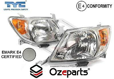Set / Pair LH+RH Head Light Lamp E Mark For Toyota Hilux Ute 2005~2008 2WD 4WD
