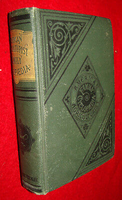 Antique 1885 Book American Agriculturist Family Cyclopedia  Farmer Homeschooling