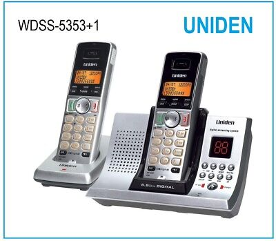 5.8GHz UNIDEN 5335+1 DIGITAL CORDLESS HOME OR OFFICE PHONE SYSTEM ANS/MACHINE