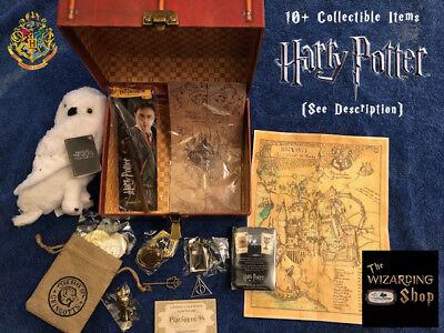 Harry Potter Wizard Crate, Hedwig, Map, Mirror, Wand, Gringotts Coins, 10+ ITEMS