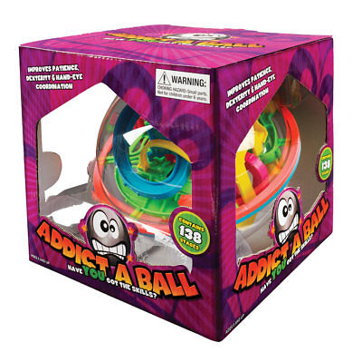 NEW Original Classic ADDICT A BALL MAZE ADDICTABALL 2 - 138 STAGES Puzzle Ball