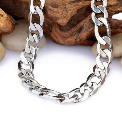 24'' 9mm Mens Jewelry stainless steel Figaro NK chain necklace High Polished