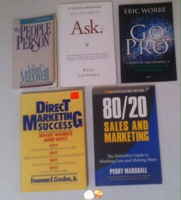 Lot of 5 Nice Good Books, Be A People Person, Go Pro, Sales and Marketing, More