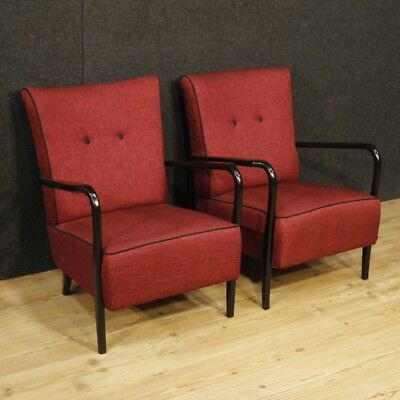 Armchairs design furniture couple chairs italian fabric wood Cassina living room