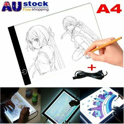 A4 USB LED Artist Thin Artist Stencil Board Light Tracing Drawing Pad Table Box
