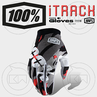 Guanti 100% Itrack Mx Magemo Adulto Motocross Enduro Off-Road Atv Mtb