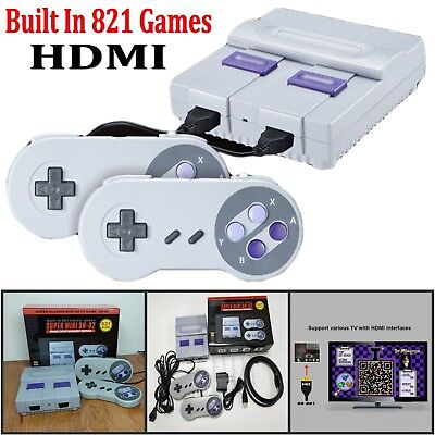 Super Mini HDMI 8Bit Retro Video Game Console Built-in 821 Games with Controller