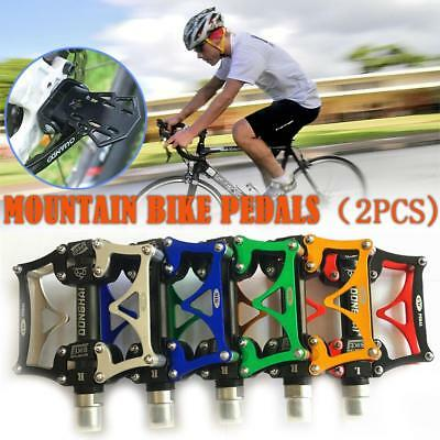 Pair Lightweight Aluminum Alloy MTB Bicycle Pedal Non-Slip BMX Road Bike Pedals