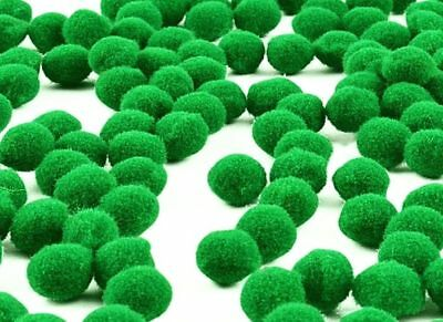 Green Pom Poms - Ex. Large 50mm - Toy Making Kids Crafts - Trimits PP5G