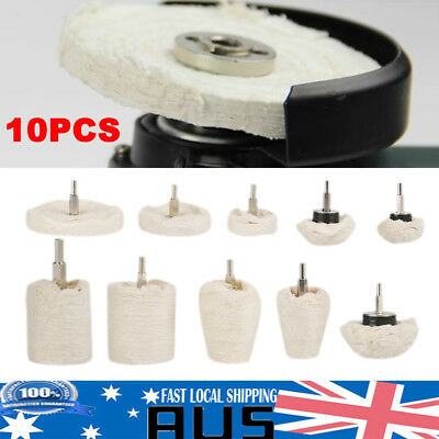 10x Polishing Buffing Pads Mop Wheel Drill For Polisher Aluminum Stainless Steel