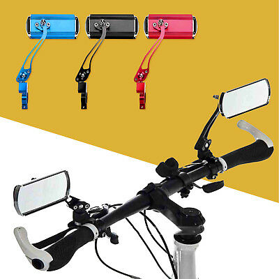 1 Pair Bicycle Cycling Handlebar Rear Views Rearview Mirror Colourful Rectangle