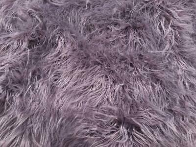 Super Luxury Faux Fur Fabric Material - MONGOLIAN LILAC