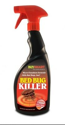 Buysmart Ready To Use Bed Bug Killer 750ml Trigger Spray - Kills Bugs & Eggs