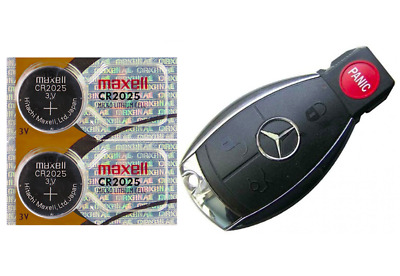 Mercedes Benz Keyfob Replacement Battery Maxell CR2025 (2 Pack) + Tracking