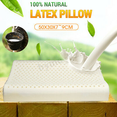 100% Natural 9CM High Latex Pillow Soft Comfort Beding Contour Support Cover