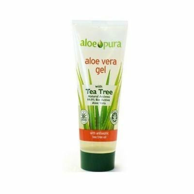 Aloe Pura Organic Aloe Vera Gel With Tea Tree 200Ml (12 Pack)
