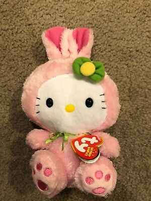 d7a0d4b678a TY Beanie Baby HELLO KITTY Easter Bunny costume  40948 MWMT 8.5