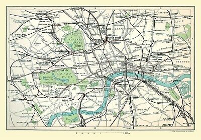 Railway Map Of Central London 1908 1000 Piece Jigsaw Puzzle (jg)