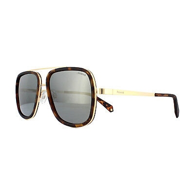 a05dc2e909b3eb Polaroid Sunglasses PLD 6033 S 086 LM Dark Havana Grey Gold Mirror Polarized