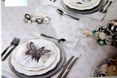 Deer Christmas Tablecloth Range Silver Tablecloths,Tablerunner,Placemat,Napkins