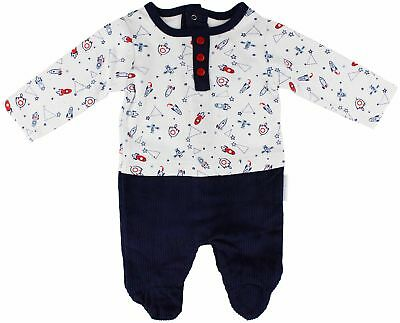Newborn Baby Boys All in One Romper Babygrow Outfit - Rocket