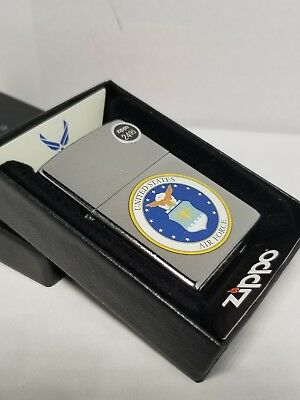 Zippo 28621 united states air force street chrome finish full size Lighter USAF