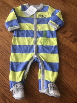 NWT Carter s 3 Months Boys Blue Green Striped Cotton Footed Sleeper Pajamas 7dc0db067