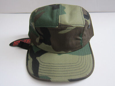088ee79a3fb29 New York Hat Co 5 Panel Military Street Cap Woodland Camouflage Rothco  Supreme