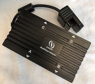 Playstation 2 PS1 InterAct 5 Multiplayer Multi Tap Adapter Memory Card Slot PS2
