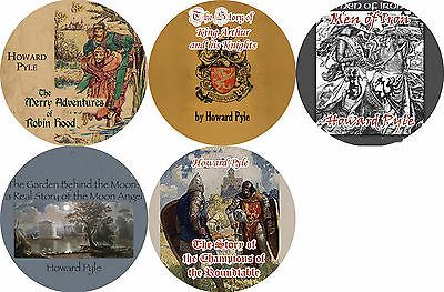 Lot of 5 HOWARD PYLE (Color Fronts) Mp3 CD Audiobooks ROBIN HOOD KING ARTHUR