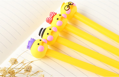 2 x Yellow Duck fine point pen Party bag  Kids novelty stationery  Bow Easter