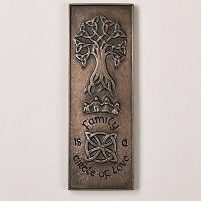 "Roman 9.5"" Antique-Bronze Colored Family is a Circle of Love Celtic Wall Plaque"