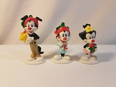Animaniacs Christmas Ornaments Yakko Wakko Dot 1997 Warner Bros Vintage Cartoon
