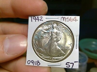 "1942-P Choice Uncirculated Walking Liberty Half Dollar BU GEM ""Priced Low"""