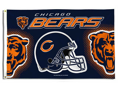 Chicago Bears Flag 3'x5' Bears Banner: Fast Free Shipping
