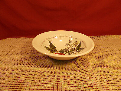 """Portmeirion China The Holly & The Ivy Pattern Oatmeal Cereal Bowl 6 3/4"""" x 1 3/4"""