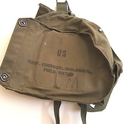 US ARMY GAS Mask Canvas Bag Chemical Biological Field M17 BAG ONLY Hipster #1