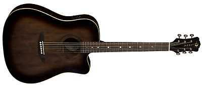 Luna Artist Vintage Dreadnought Cutaway distressed acoustic electric guitar NEW