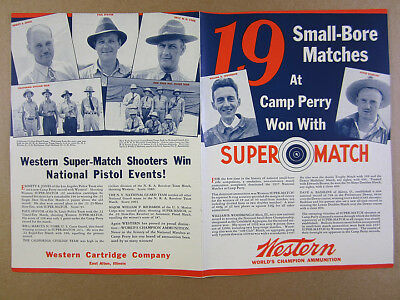 1937 Western Ammunition Camp Perry Rifle Matches teams photos vintage print Ad