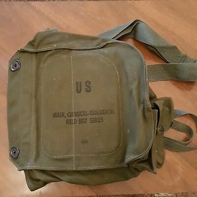 US ARMY GAS Mask Canvas Bag Chemical Biological Field M17 BAG ONLY Hipster #2