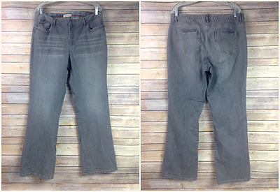 Natural Reflections Womens 14 Light Gray Bootcut Jeans Pants 36X32.5 36x32