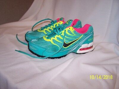 Nike Torch 4 Blue Green With Yellow And Pink Tennis Shoes Size 6.5 bf41fd6ce