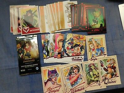 2018 Cryptozoic DC Comics Bombshells II #1-64 BASE SET +4 INSERT SETS =100 CARDS